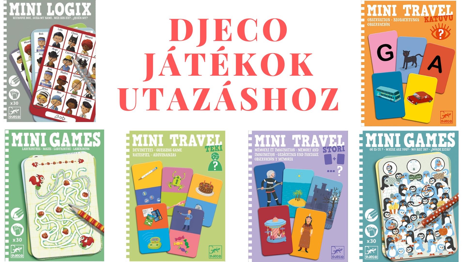 Djeco utazós játékok