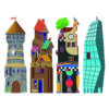 Kép 2/2 - bajo kocka torony epuletek