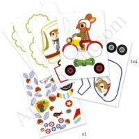 Djeco Színező készlet - Utazás járműveken kifutó termék