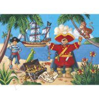 Djeco Formadobozos puzzle Kalózok kincse