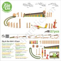 Djeco Építőjáték Zig&Go 27 db