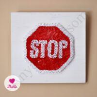 Nobile STOP tábla cérnakép