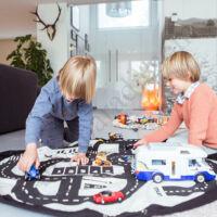 Play&go játéktároló zsák 2 az 1-ben, autópálya