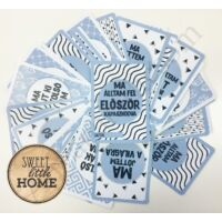 Sweet Little Home baba kártyák, kék