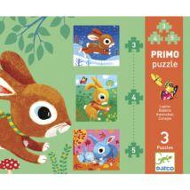 Djeco Primo puzzle - Nyuszik kifutó termék