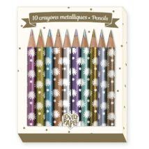 Djeco mini metál ceruza, 10 szín