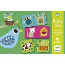 Djeco párosító puzzle Ki hol lakik?