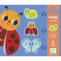 Djeco Primo puzzle a kertben