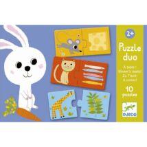 Djeco párosító puzzle Ki mit eszik?