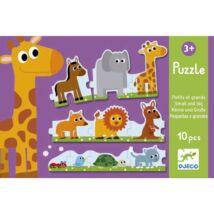 Djeco sorozat puzzle, kisebb nagyobb kifutó termék