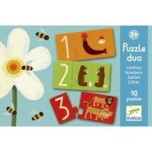 Djeco párosító puzzle, számok