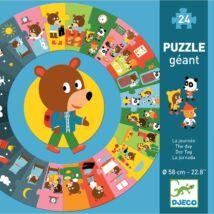 Djeco óriás sorozat puzzle, mackó napja