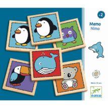 Djeco fa memória játék, pingvin
