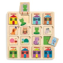 Djeco képkirakó és memória játék- Hol bújt el?