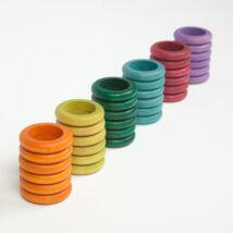 Grapat gyűrűk, különleges színek 36 db