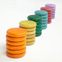 Grapat érmék, 36 db különleges színek
