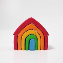Grimm's színes ház fa építő