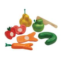 """PlanToys szeletelhető """"csúnya""""zöldség-gyümölcs szett"""