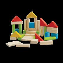 PlanToys színes építőkocka, 40 db-os
