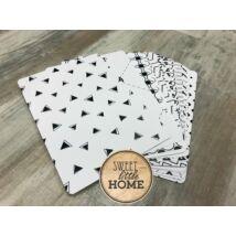 Sweet Little Home kontraszt kártyák csesemőknek