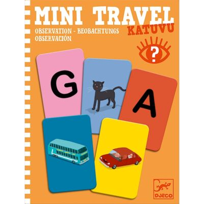 Djeco mini utazós játék, betű-kép