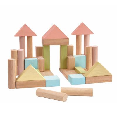 PlanToys pasztell építőkocka, 40 db-os