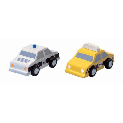 PlanToys taxi és rendőrautó kifutó termék