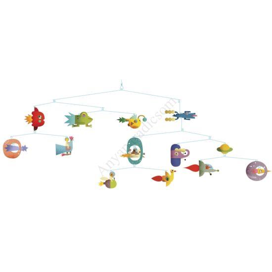 Djeco Szélmobil függődísz - Űrjárművek