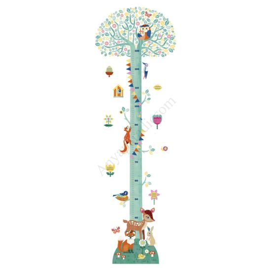 Djeco Magasságmérő falmatrica -Virágzó fa