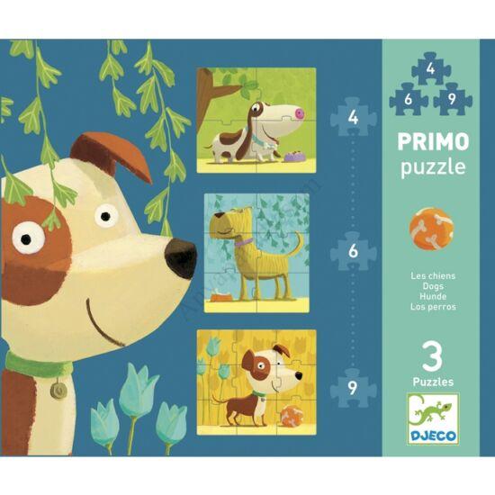Djeco Primo puzzle - Kutyák, 4, 6, 9 db-os