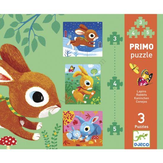 djeco primo puzzle nyuszik
