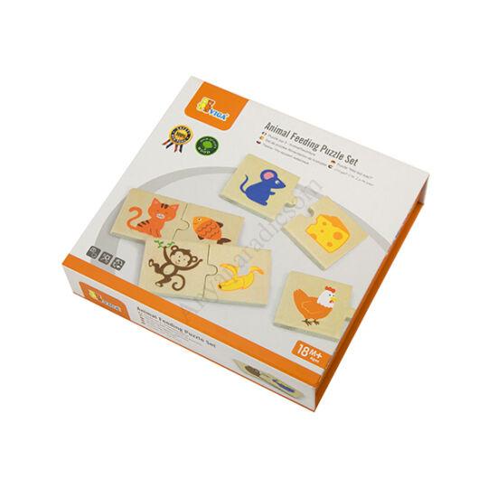 Viga Toys párosító puzzle (Mit esznek az állatok?)