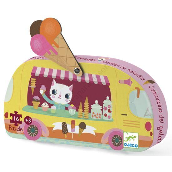 djeco mini puzzle fagyis kocsi