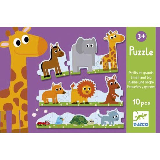 Djeco Sorozat puzzle,kisebb nagyobb