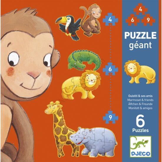 Djeco Óriás puzzle, Marmoset és barátai