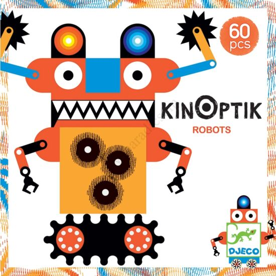 Djeco kinoptik puzzle, robotok