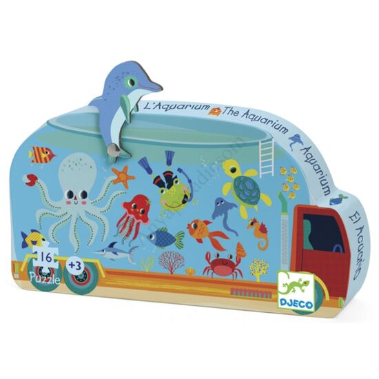 Djeco Mini puzzle, Mozgó akvárium