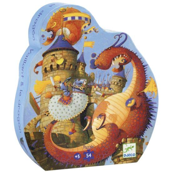 Djeco Formadobozos puzzle Vaillant és a sárkány