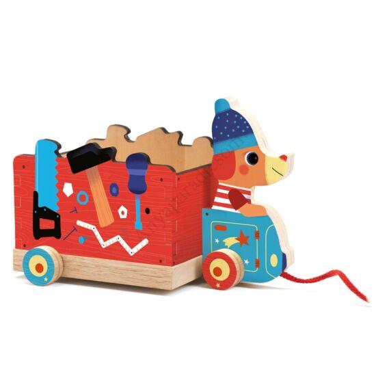Djeco húzható szerelő kocsi