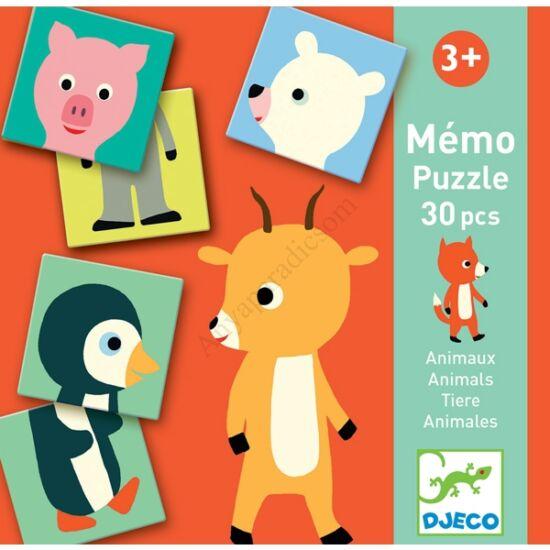 Djeco memória játék, fél állat párosító