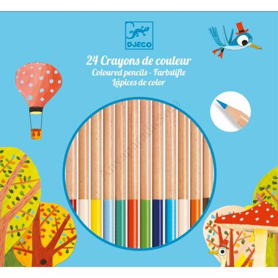 Djeco színes ceruza, 24 db-os kifutó termék