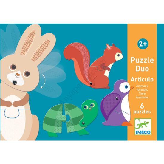 djeco parosito puzzle mozgathato allatok