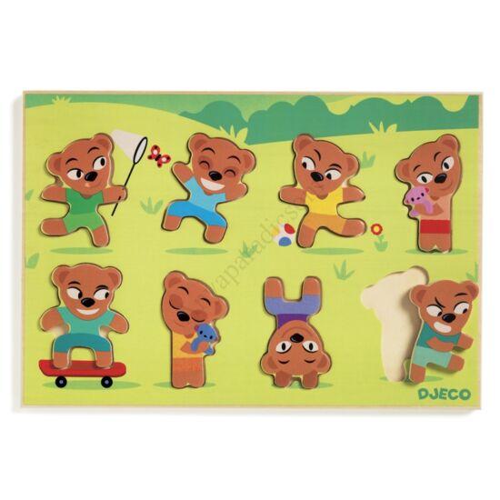 Djeco macis formabeillesztő fa puzzle kifutó termék