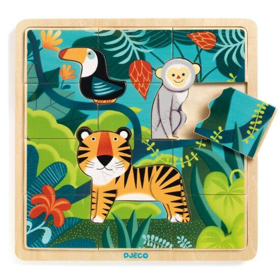 Djeco fa puzzle, dzsungel