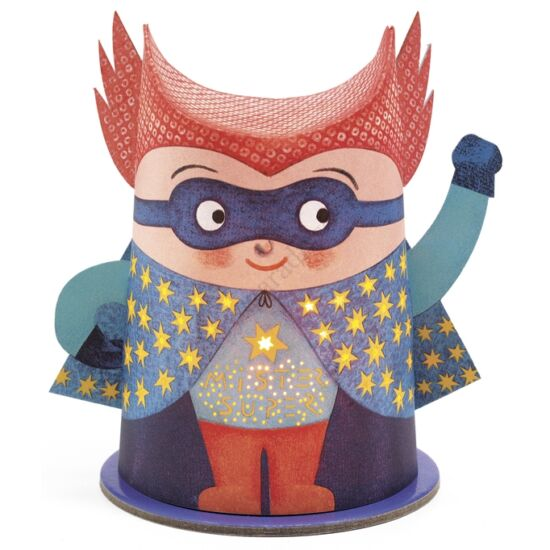 djeco mini lampas szuperhos