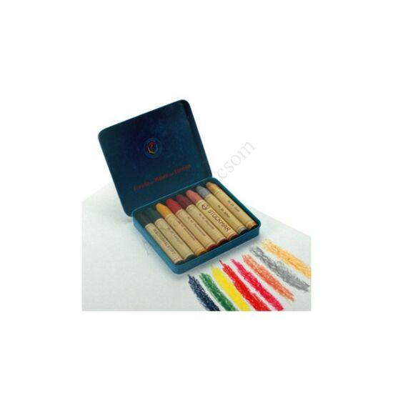 Stockmar méhviaszceruza, 8 színű, fém dobozban, különleges színek