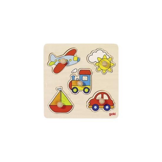 Goki - Fogós puzzle - Utazás, 5 db-os