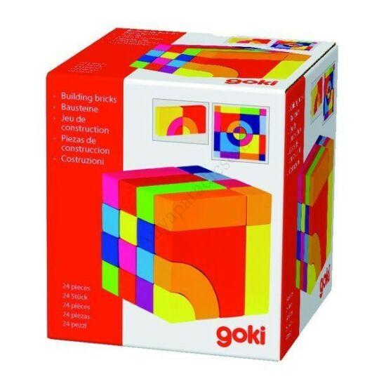 Goki építőkocka és puzzle
