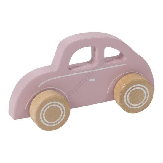 Little Dutch fa játékautó rózsaszín beetle
