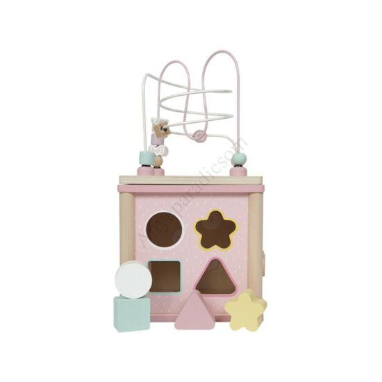 Little Dutch készségfejlesztő kocka, rózsaszín